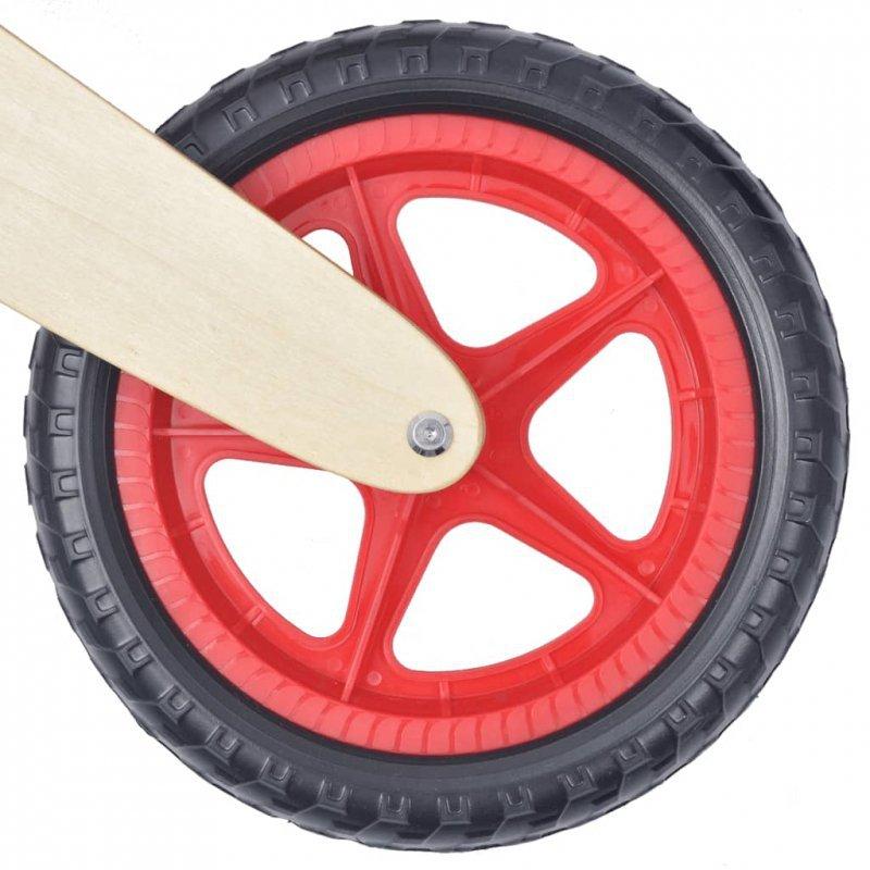 Rowerek biegowy drewniany w kolorze czerwonym
