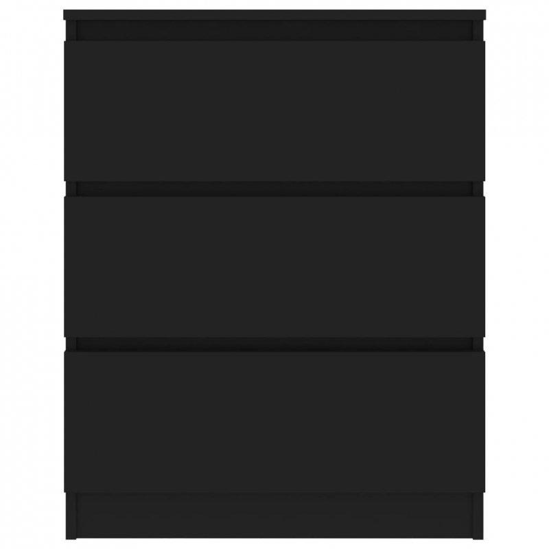 Komoda, czarna, 60x35x76 cm, płyta wiórowa
