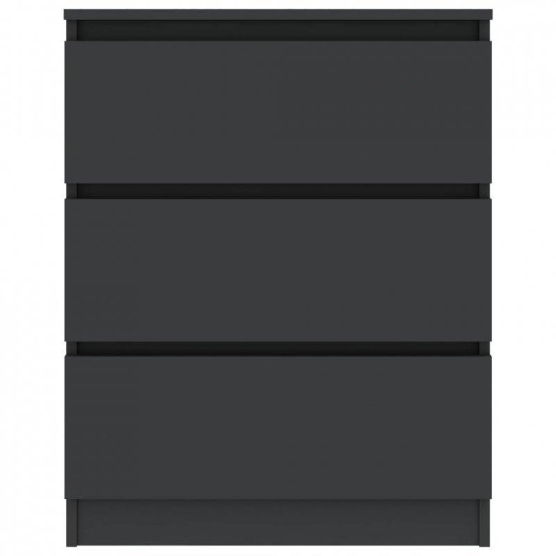 Komoda, szara, 60x35x76 cm, płyta wiórowa