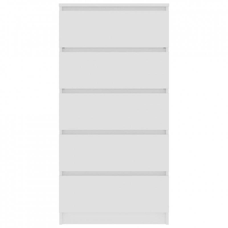 Komoda, biała, 60x35x121 cm, płyta wiórowa