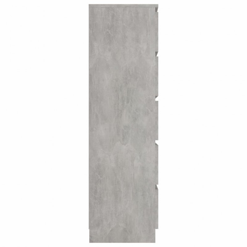 Komoda, betonowa szarość, 60x35x121 cm, płyta wiórowa