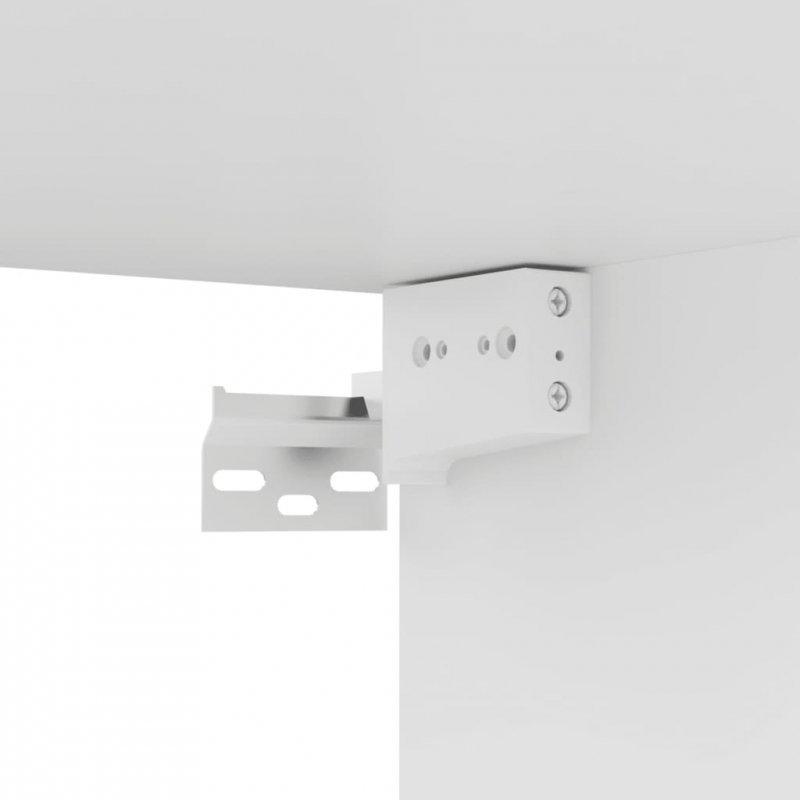 Szafka TV, biała, 80x30x30 cm, płyta wiórowa