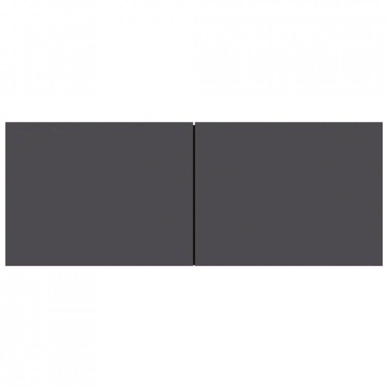 Szafka pod TV, szara, 80x30x30 cm, płyta wiórowa
