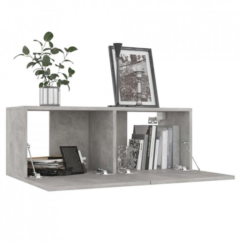 Szafka pod TV, szarość betonu, 80x30x30 cm, płyta wiórowa