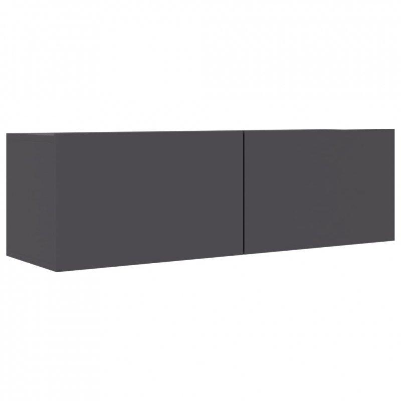 Szafka pod telewizor, szara, 100x30x30 cm, płyta wiórowa