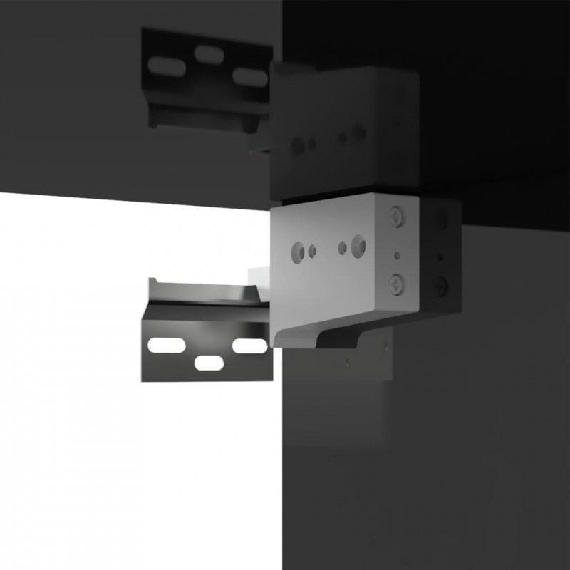 Szafka TV, czarna, wysoki połysk, 100x30x30 cm, płyta wiórowa