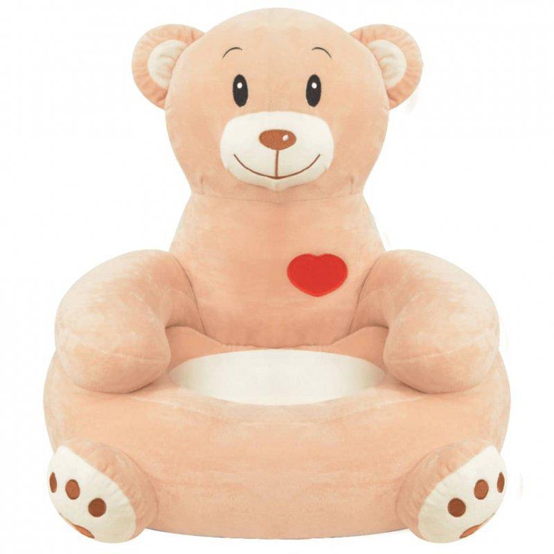 Fotel dla dzieci miś, pluszowy, brązowy