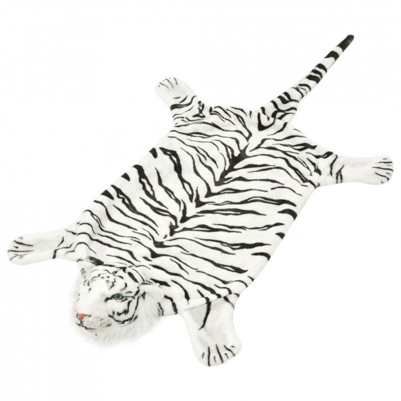 Pluszowy dywanik - tygrys, 144 cm, biały