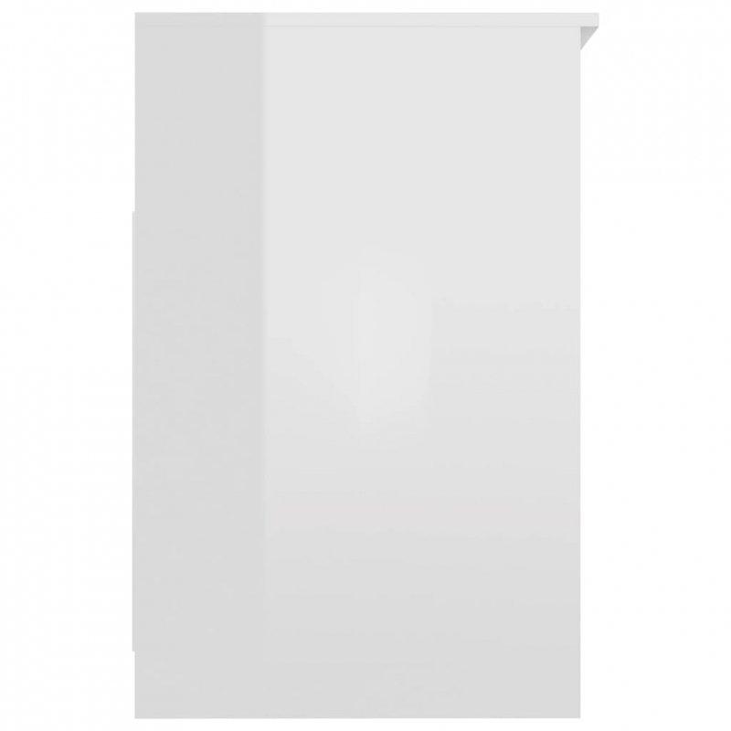 Komoda, biała na wysoki połysk, 40x50x76 cm, płyta wiórowa