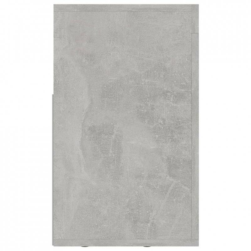 Szafka pod TV, szarość betonu, 120x30x50 cm, płyta wiórowa