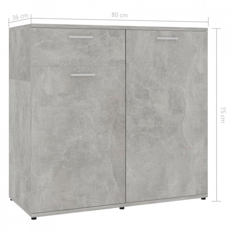 Szafka, szarość betonu, 80x36x75 cm, płyta wiórowa