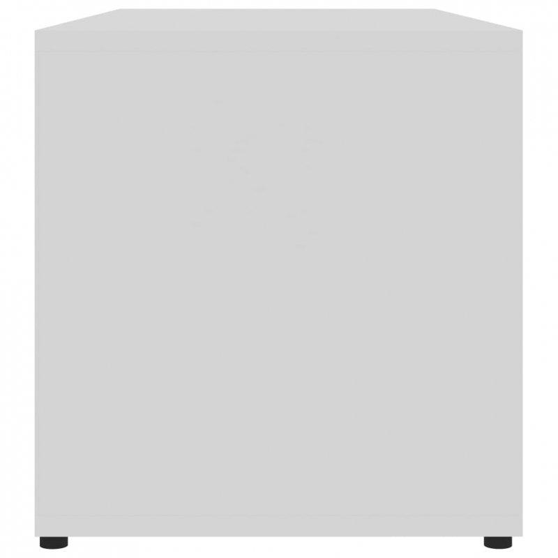Szafka pod TV, biała, 80x34x36 cm, płyta wiórowa