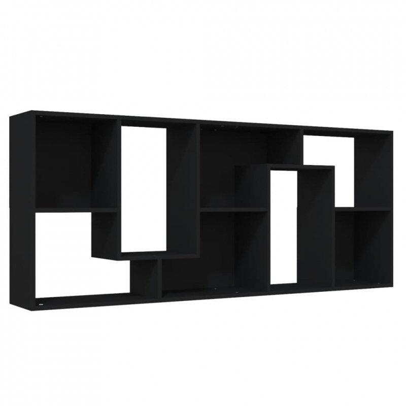 Regał na książki, czarny, 67x24x161 cm, płyta wiórowa