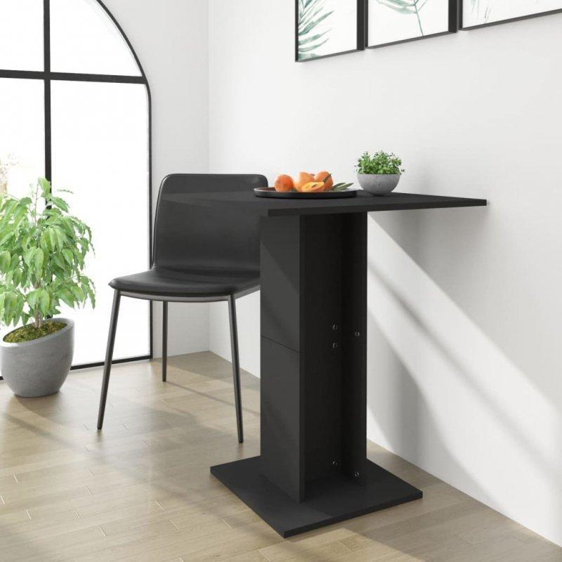 Stolik bistro, czarny, 60x60x75 cm, płyta wiórowa