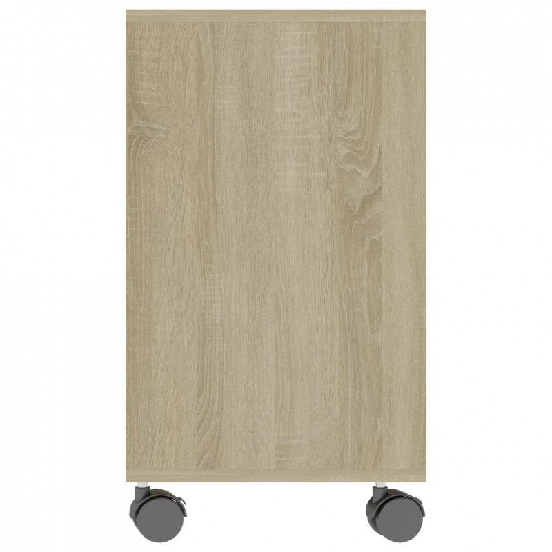Stolik boczny, dąb sonoma, 70x35x55 cm, płyta wiórowa