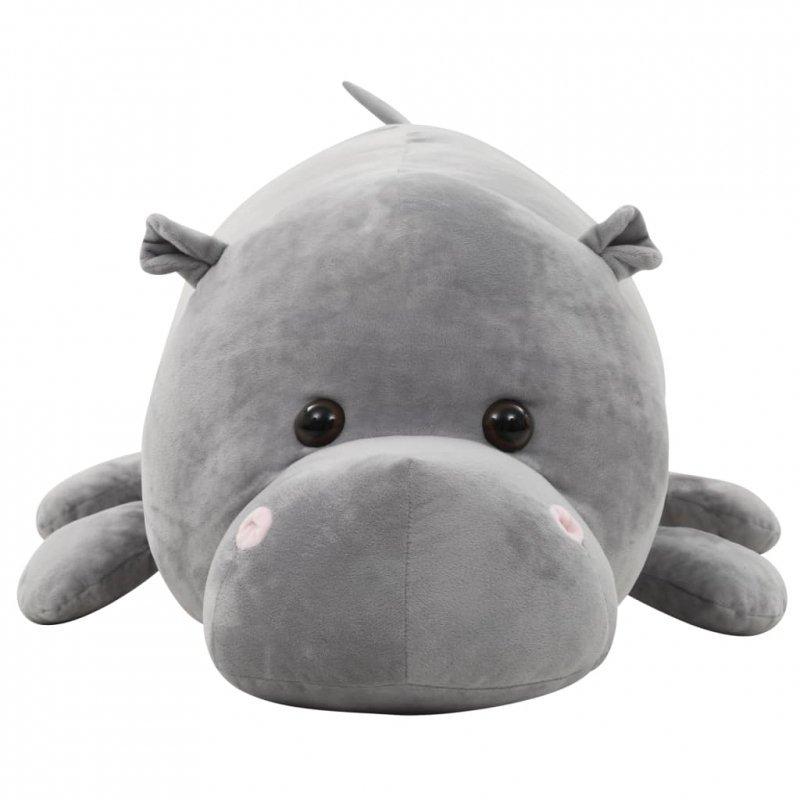 Pluszowy hipopotam przytulanka, szary