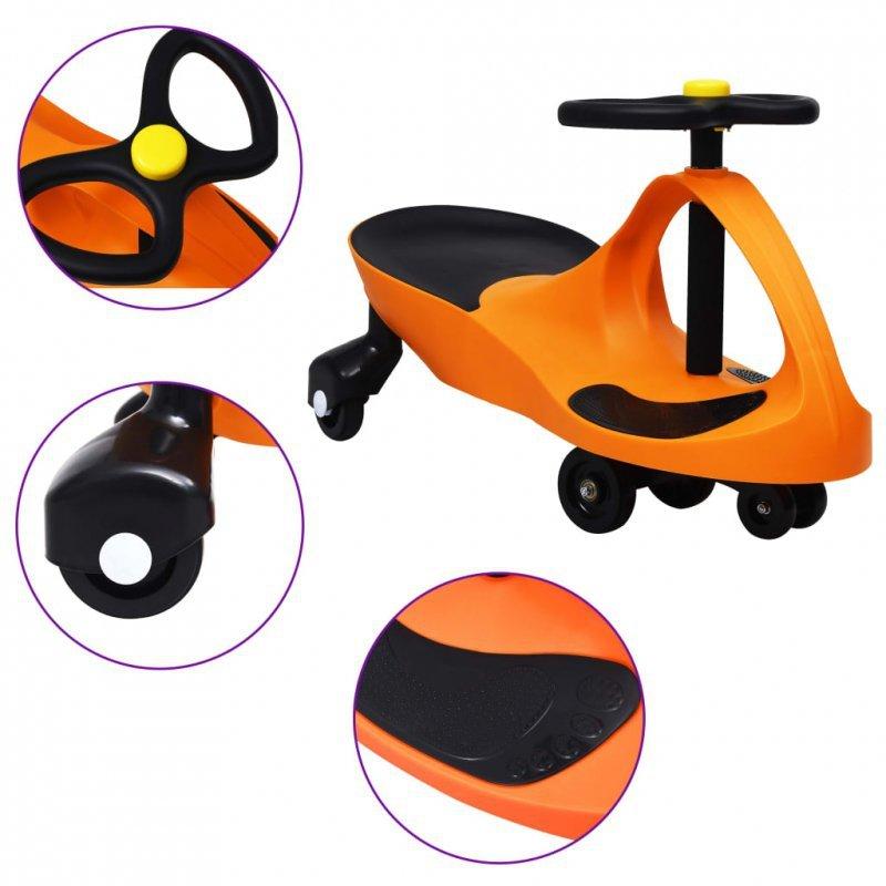 Jeździk balansowy dla dzieci, z klaksonem, pomarańczowy