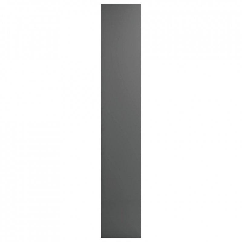 Szafki na płyty CD, 2 szt., wysoki połysk, szare, 21x16x93,5 cm