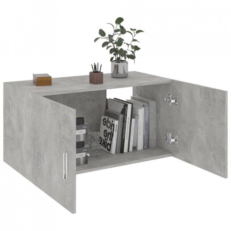 Szafka ścienna, szarość betonu, 80x39x40 cm, płyta wiórowa