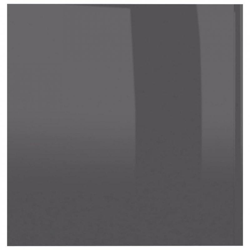Szafka ścienna, wysoki połysk, szara, 80x39x40cm, płyta wiórowa