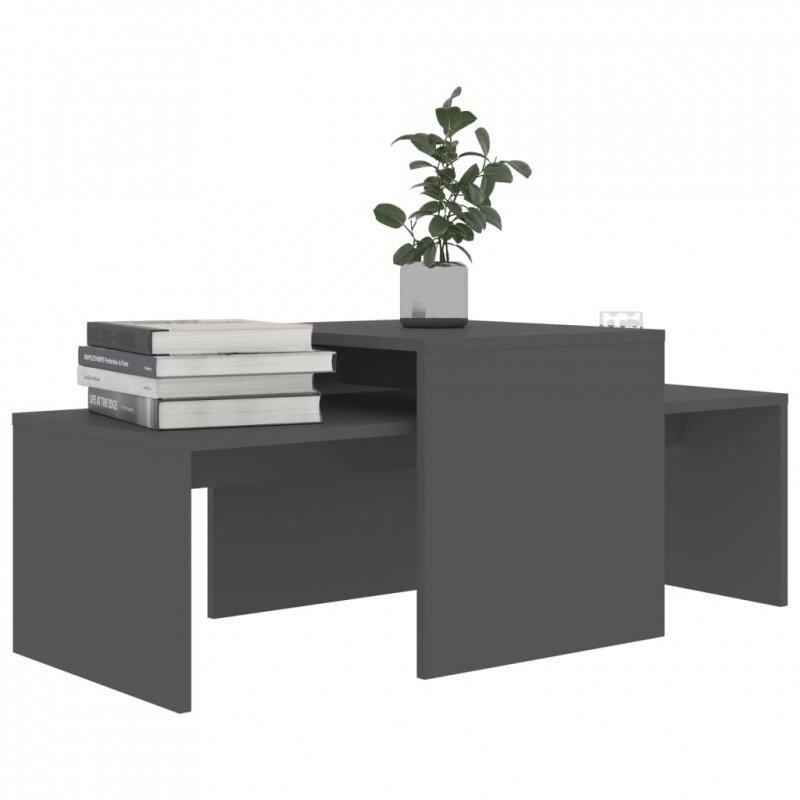 Stolik kawowy, szary, 100x48x40 cm, płyta wiórowa