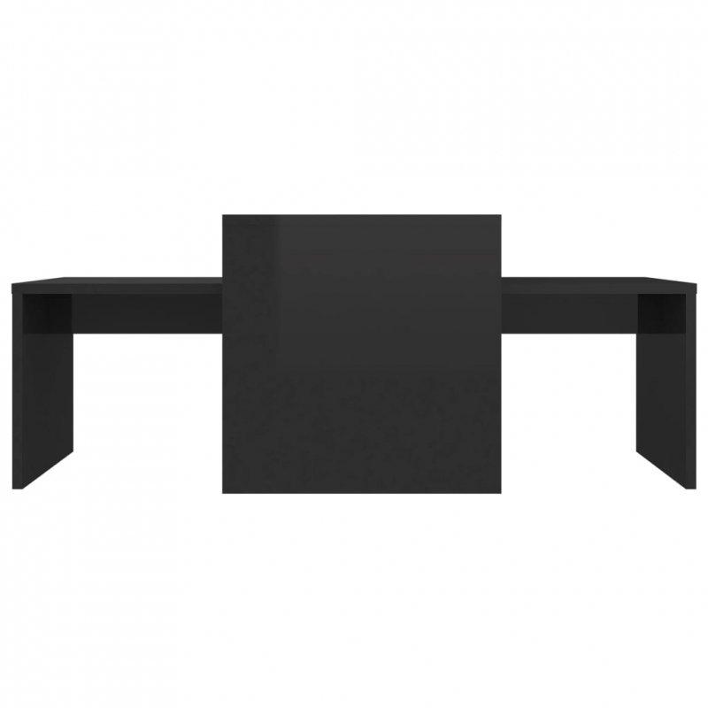 Stolik kawowy, wysoki połysk, czarny, 100x48x40cm płyta wiórowa