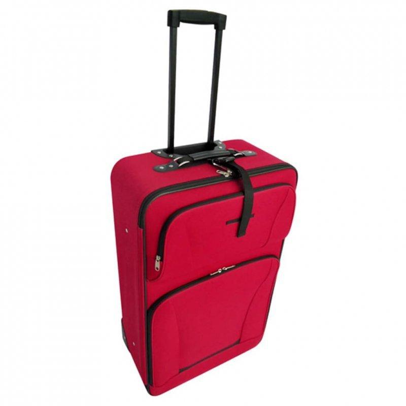 Zestaw walizek podróżnych, 5 elementów, kolor czerwony