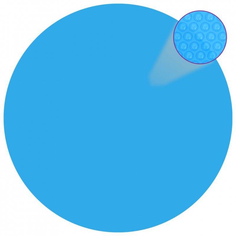 Pływająca, okrągła folia, pokrywa solarna PE, 381 cm, niebieska