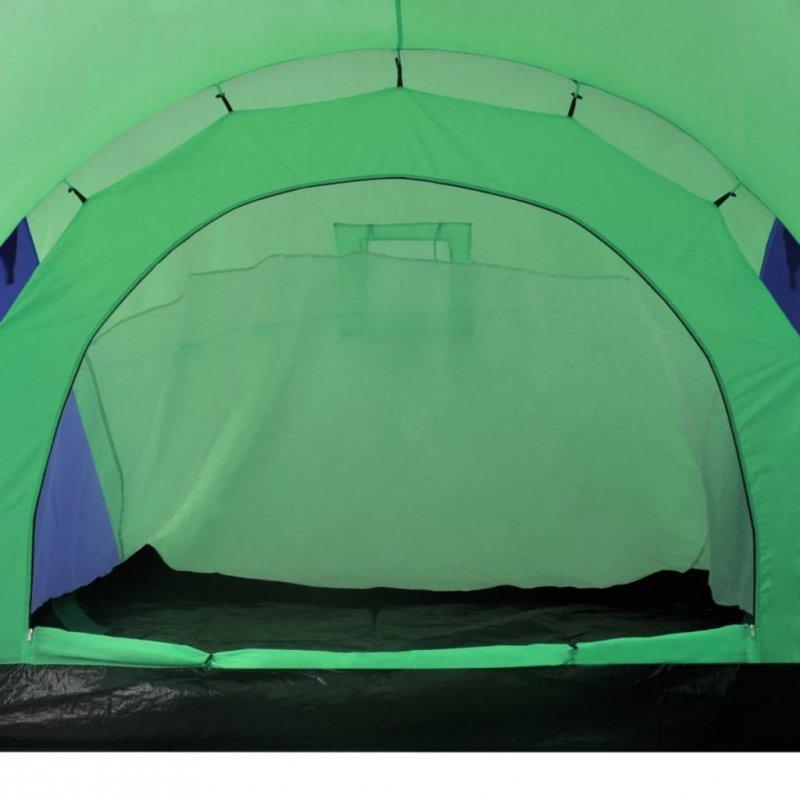 Namiot 6 osobowy niebiesko-zielony