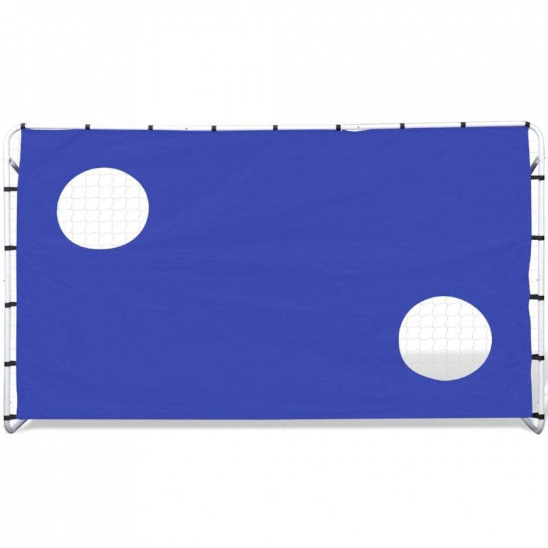 Stalowa bramka do piłki nożej z panelem do celowania 240 x 92 x 150 cm