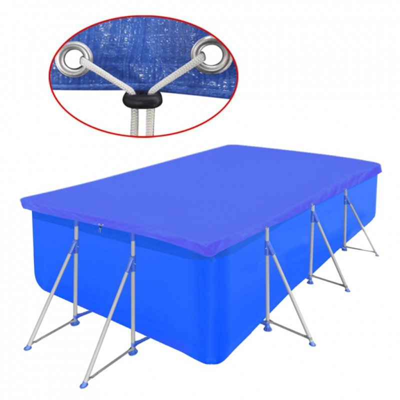Pokrywa na prostokątny basen, 394 x 207 cm, 90 g/m2