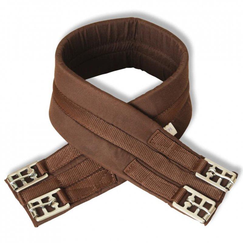 """Zestaw do osiodłania konia 17,5"""" z naturalnej skóry brązowy 18 cm 5w1"""