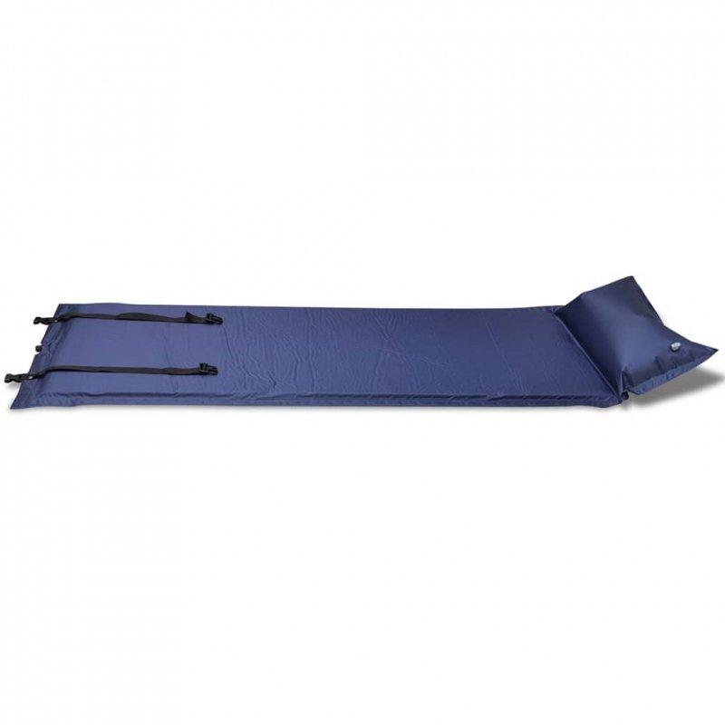 Mata samopompująca, pojedyncza 185 x 55 x 3 cm, niebieska