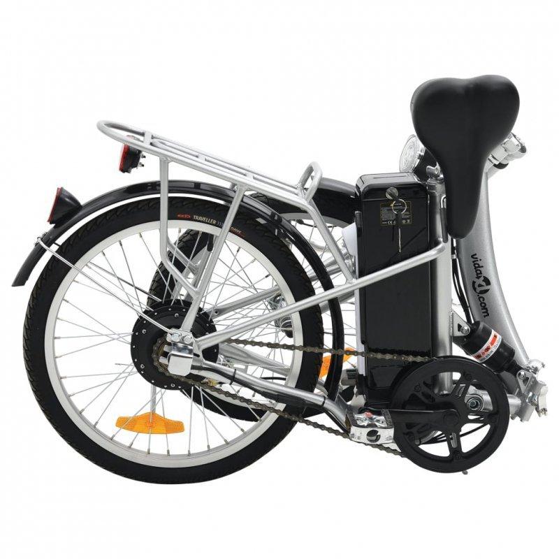 Składany rower elektryczny z akumulatorem litowo-jonowym, aluminium