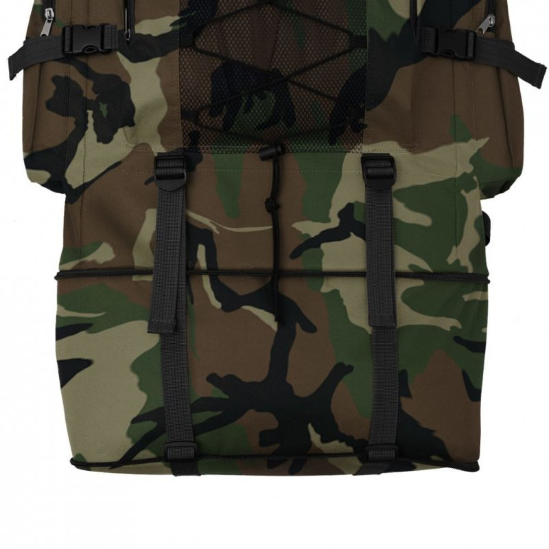 Plecak XXL w wojskowym stylu, 100 L, moro