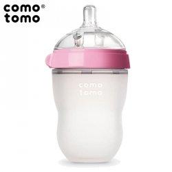 Antykolkowa butelka silikonowa MOM'S BREAST 250 ml Pink BABY