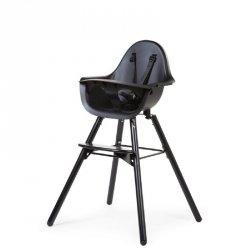 Krzesełko do karmienia Evolu 2, Black/Black, 6m+