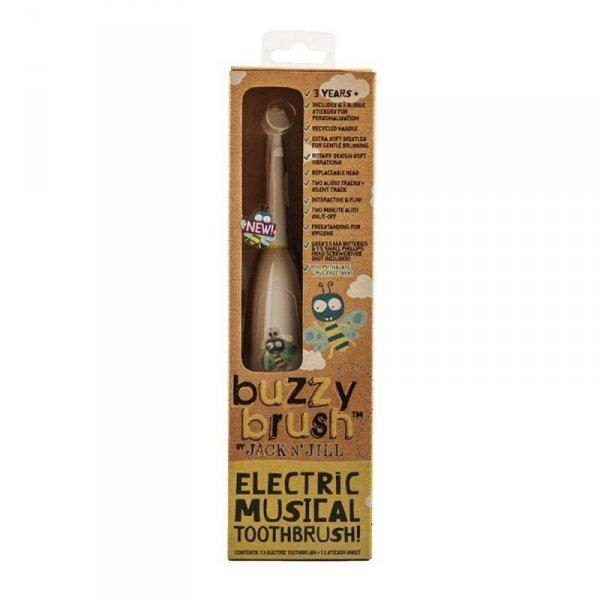 Grająca elektryczna szczoteczka dla dzieci, z naklejkami