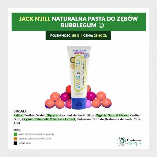 Naturalna Pasta do zębów Bubblegum, Xylitol, 50g