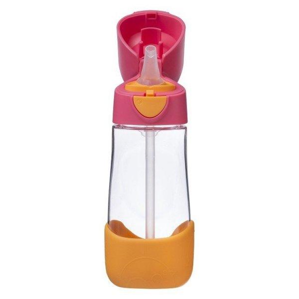 Butelka tritanowa ze słomką, 450 ml, Strawberry Shake, 9m+