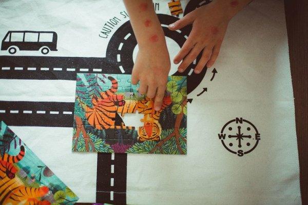 Puzzle mini Tygrys bengalski 48 elementów