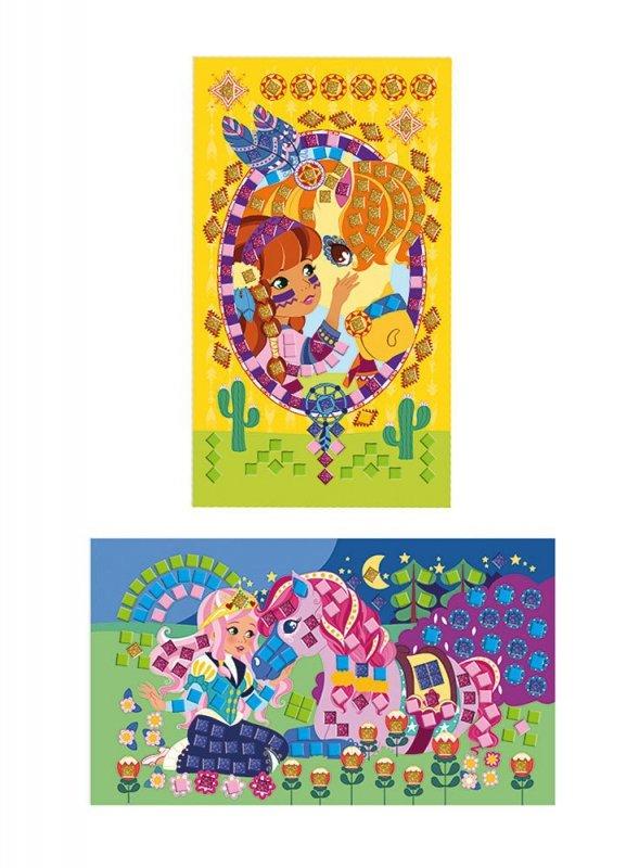 Zestaw artystyczny Mozaika Konie i jednorożce
