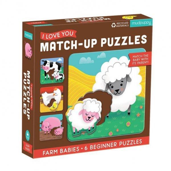 Pierwsze puzzle I Love You Rodzice i dzieci Farma