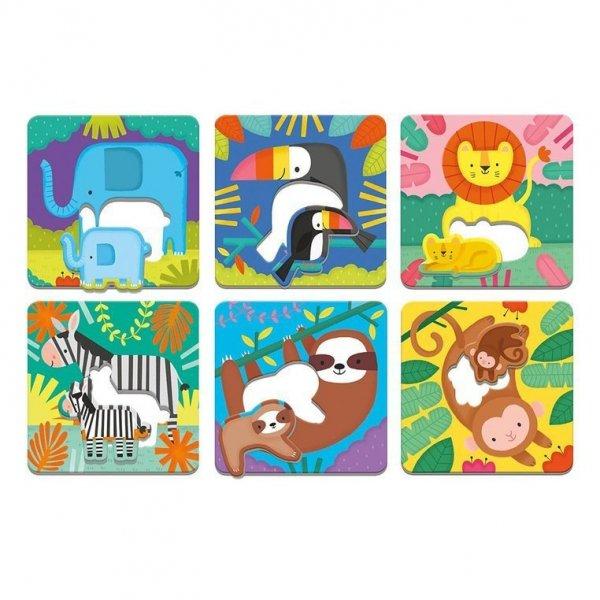 Pierwsze puzzle I Love You Rodzice i dzieci Dżungla