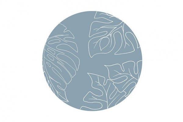 Mata ochronna podłogowa okrągła Clean Wean Mat Ammil Jungle Teal Blue