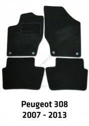 Dywaniki welurowe Peugeot 308
