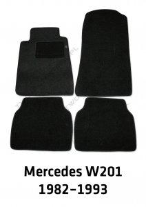Dywaniki welurowe Mercedes W201 C-Klasa