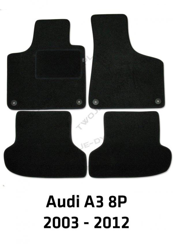 Dywaniki welurowe Audi A3