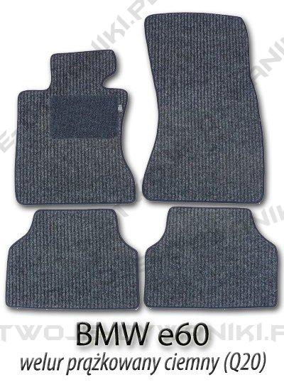 Dywaniki welurowe BMW e60 5 Series