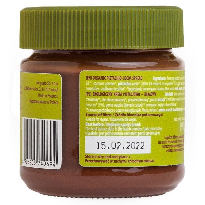 Krem pistacjowo–kakaowy bezglutenowy Super Fudgio BIO, 190g